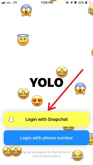 Yolo App Download - Anonymous Messages on Snapchat